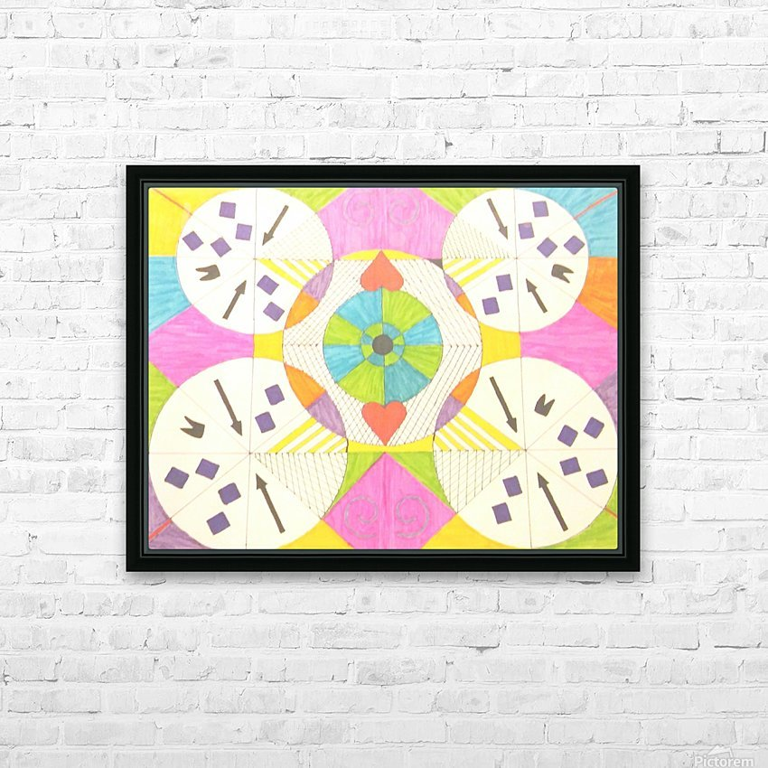 Wheels of Abstraction HD Sublimation Metal print with Decorating Float Frame (BOX)