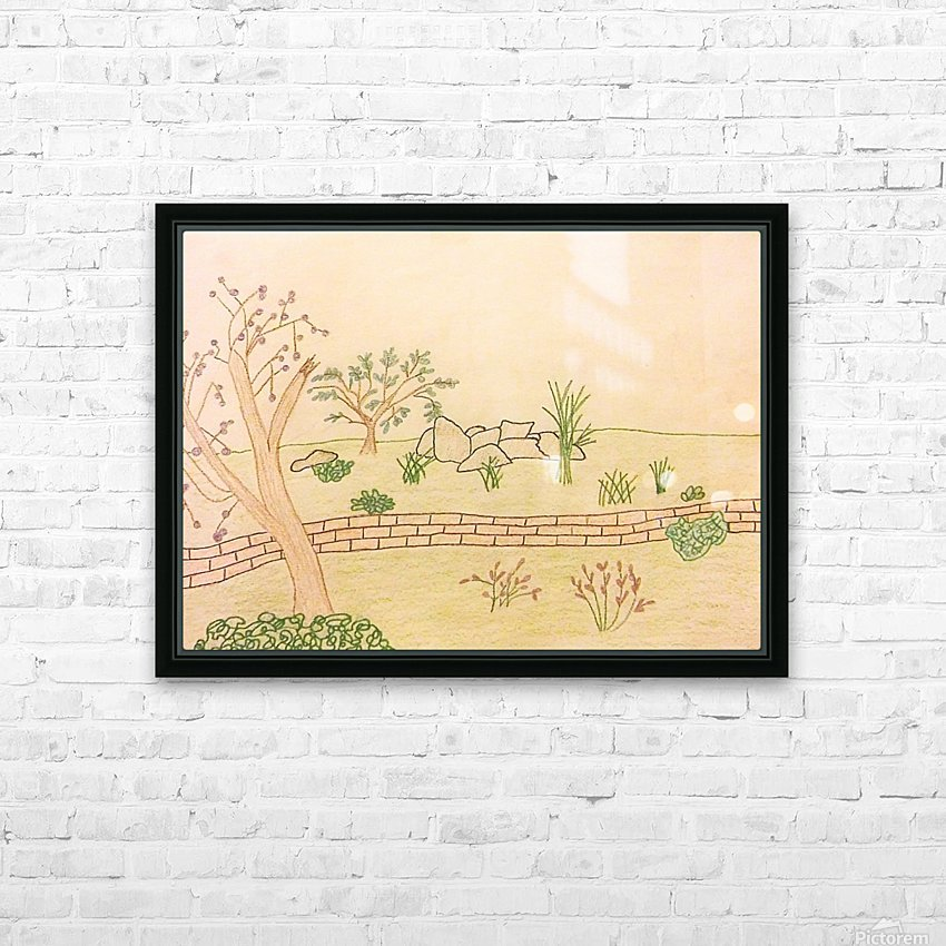 Simple Landscape HD Sublimation Metal print with Decorating Float Frame (BOX)