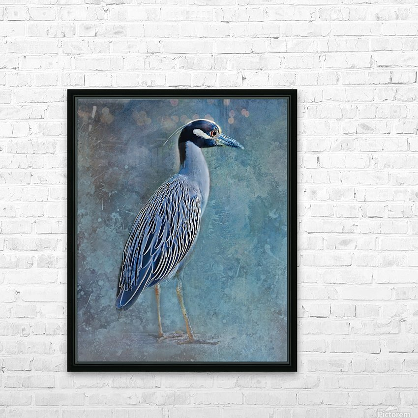 Night Heron Blues HD Sublimation Metal print with Decorating Float Frame (BOX)