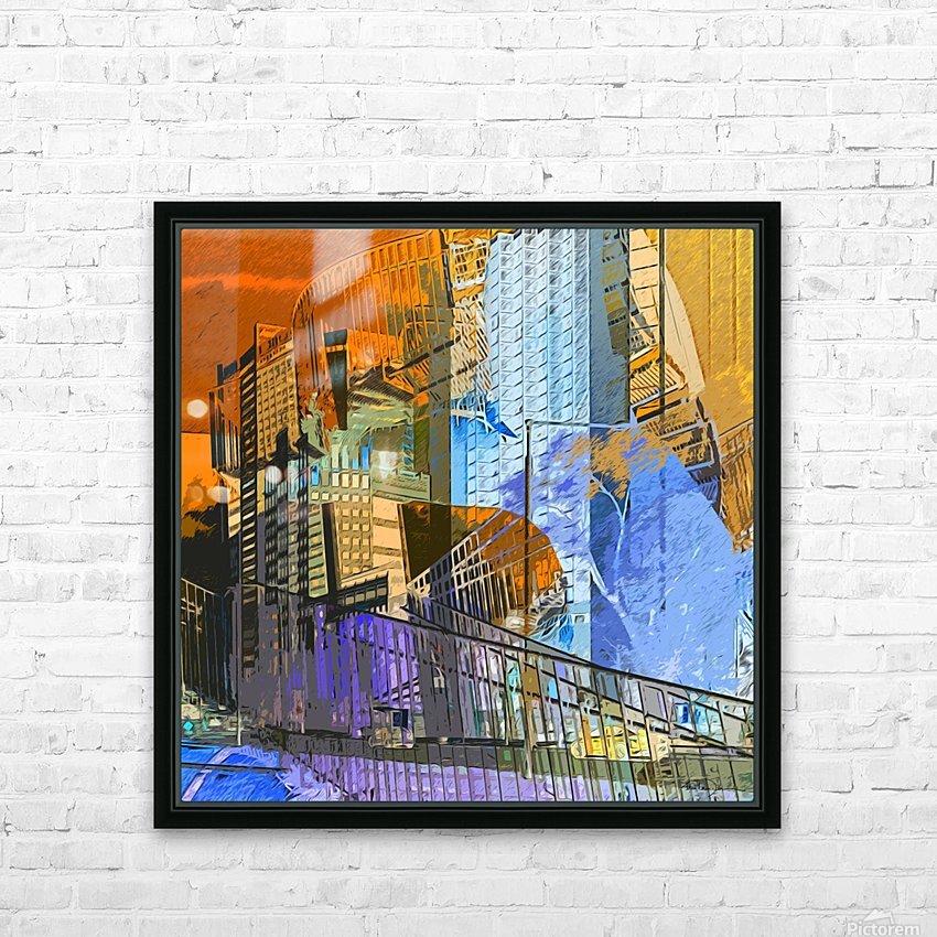 Montréal HD Sublimation Metal print with Decorating Float Frame (BOX)