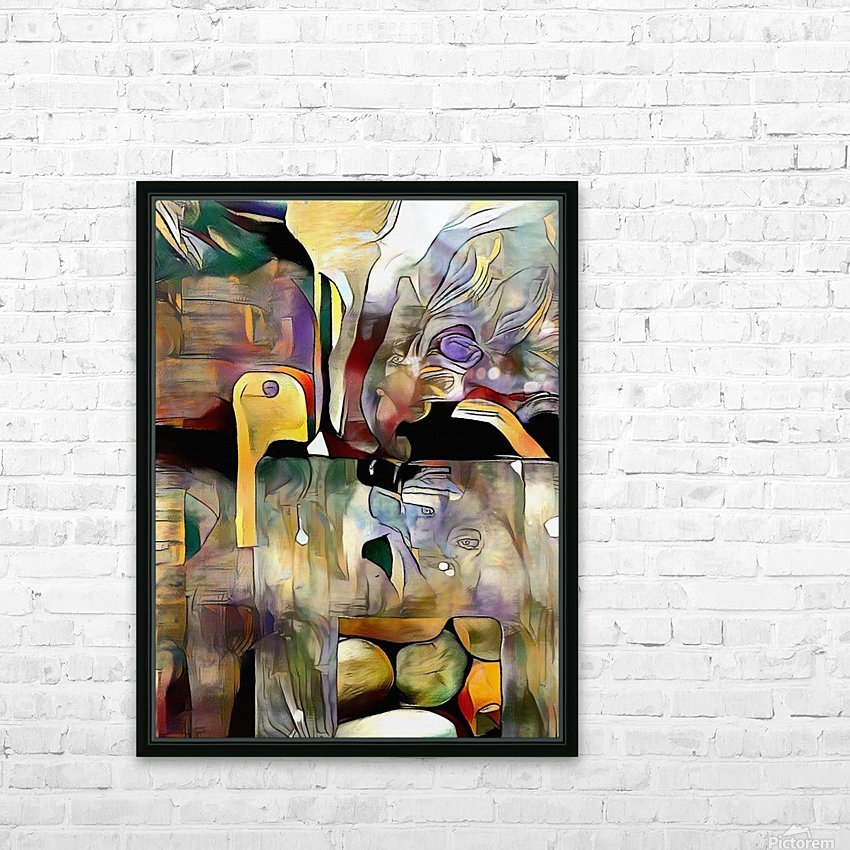 Modern Abstract HD Sublimation Metal print with Decorating Float Frame (BOX)