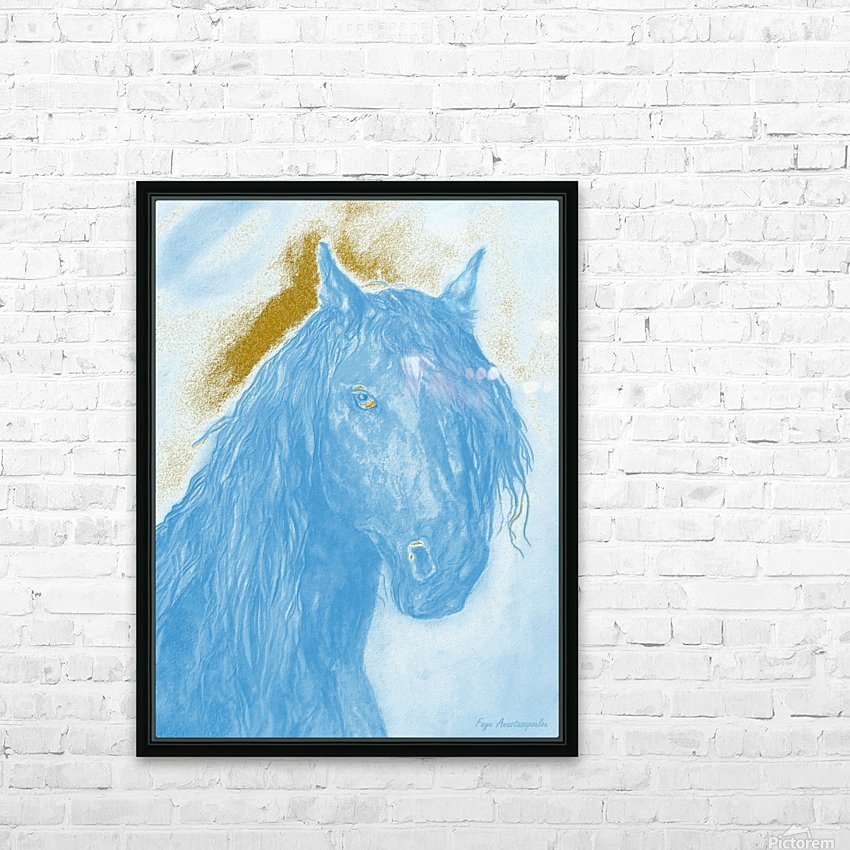 Horse Spirit HD Sublimation Metal print with Decorating Float Frame (BOX)