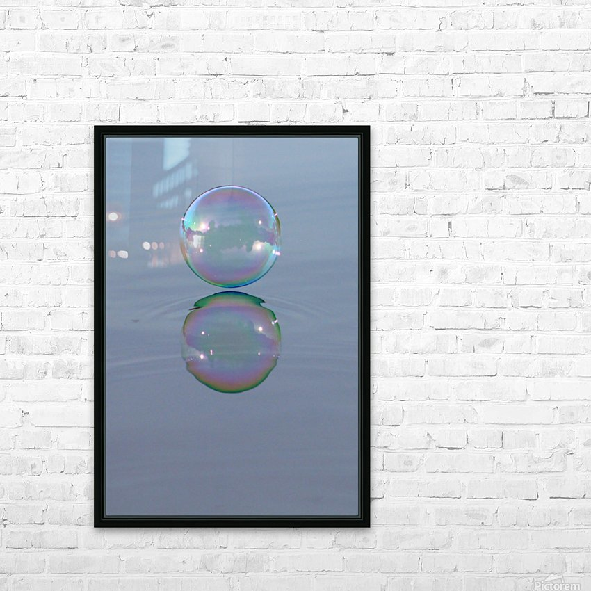 bubble HD Sublimation Metal print with Decorating Float Frame (BOX)