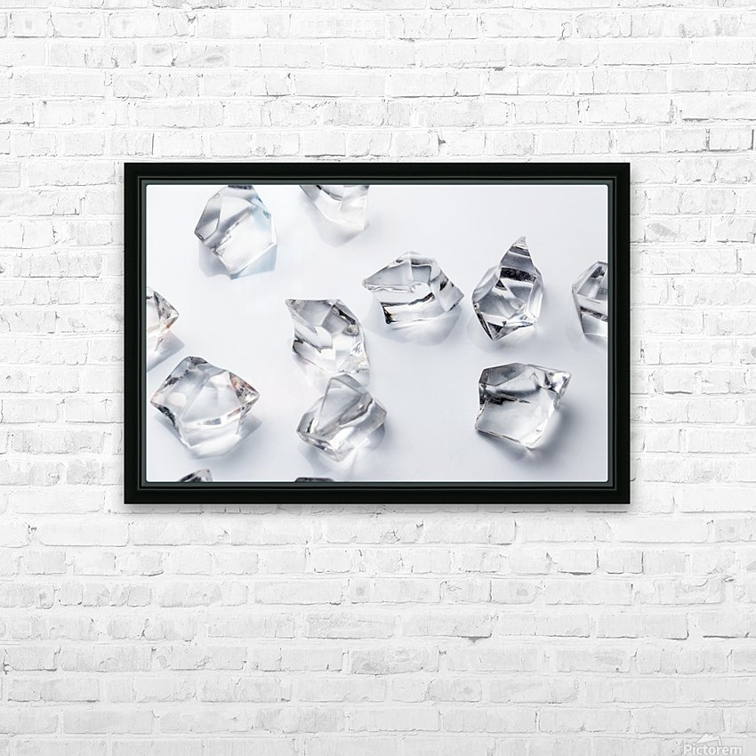 Crystals on the white background HD Sublimation Metal print with Decorating Float Frame (BOX)