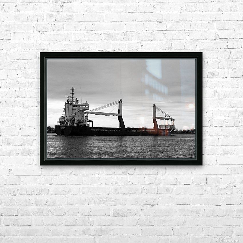 A Dark Ship and Dark Day 051219 HD Sublimation Metal print with Decorating Float Frame (BOX)