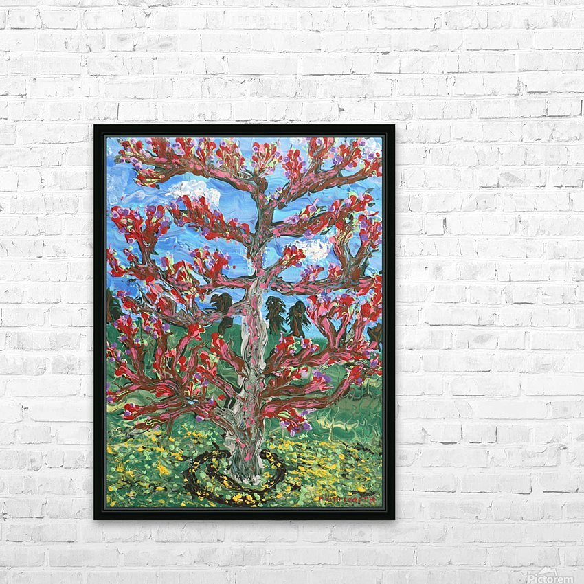 Cherry tree HD Sublimation Metal print with Decorating Float Frame (BOX)
