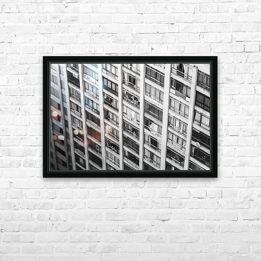 Sao Paulo Downtown HD Sublimation Metal print with Decorating Float Frame (BOX)