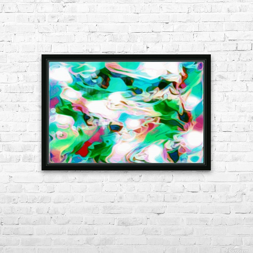 Waterfall - multicolor abstract swirls HD Sublimation Metal print with Decorating Float Frame (BOX)