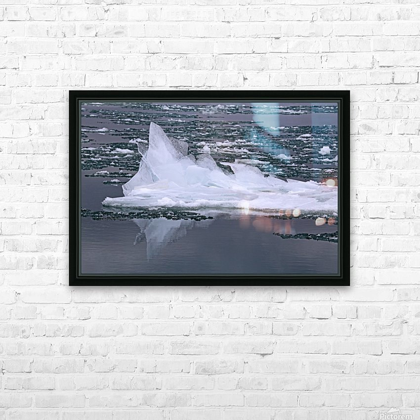 Jagged Ice on the River 2 021619 HD Sublimation Metal print with Decorating Float Frame (BOX)