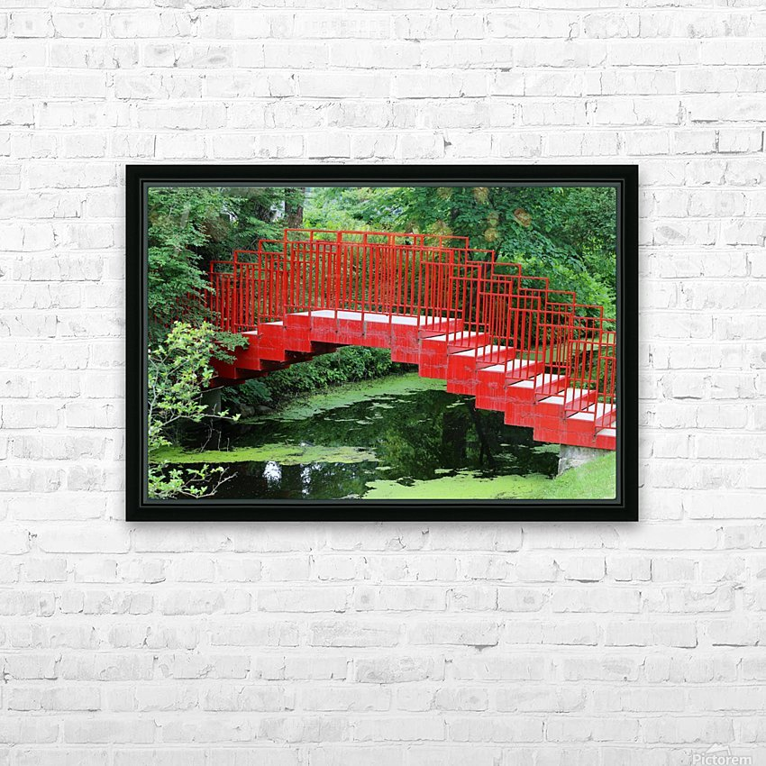 Dow Gardens Red Footbridge 062618 HD Sublimation Metal print with Decorating Float Frame (BOX)