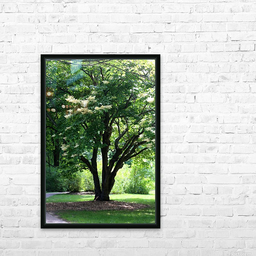 Japanese Lavender Tree Dow Gardens 2018 HD Sublimation Metal print with Decorating Float Frame (BOX)