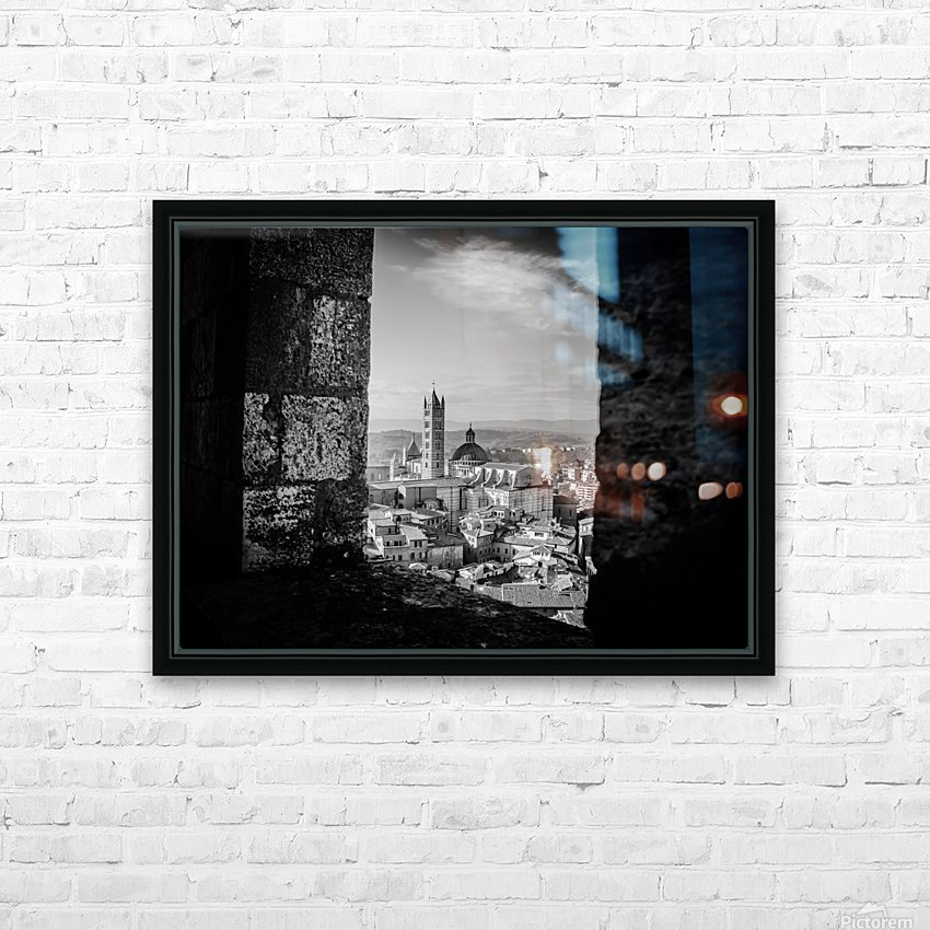 Bnw Siena Tower HD Sublimation Metal print with Decorating Float Frame (BOX)