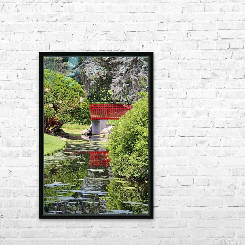 Red Bridge and Reflection 2 Dow Gardens 062618 HD Sublimation Metal print with Decorating Float Frame (BOX)