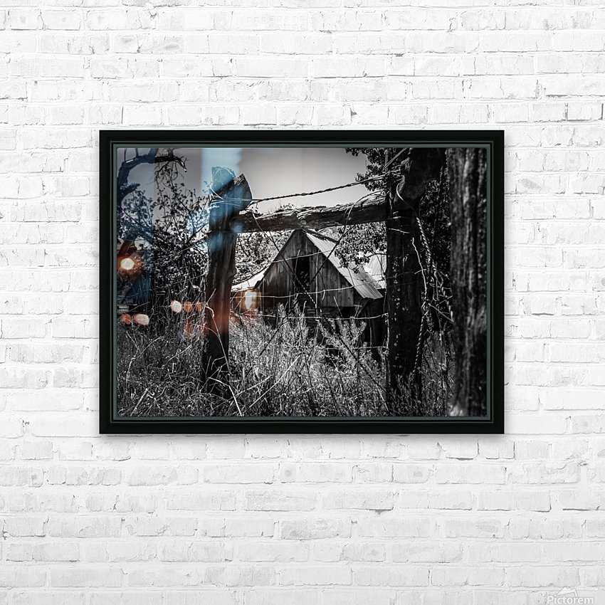 Abandoned Black and White HD Sublimation Metal print with Decorating Float Frame (BOX)