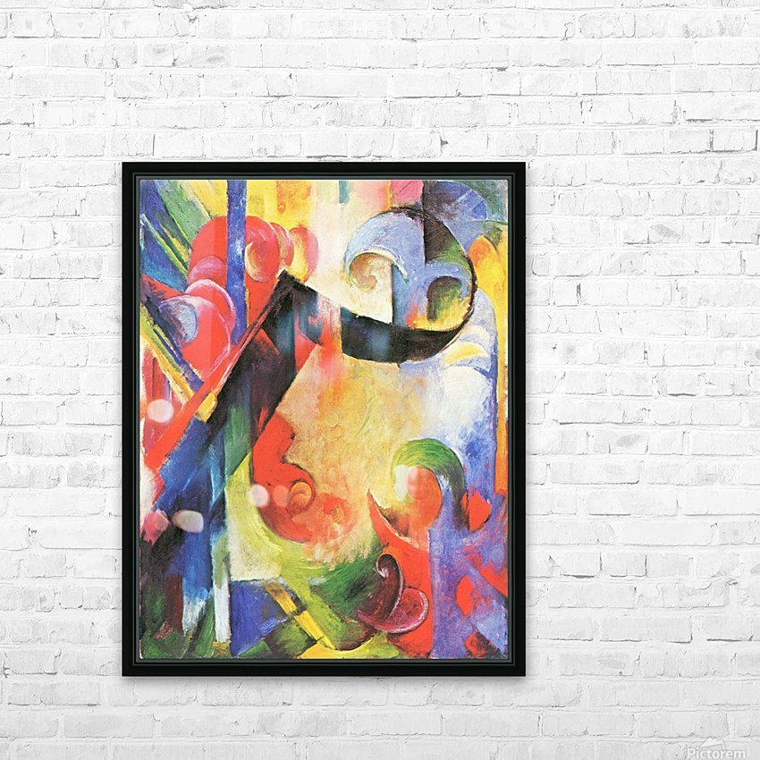 Broken Forms by Franz Marc HD Sublimation Metal print with Decorating Float Frame (BOX)