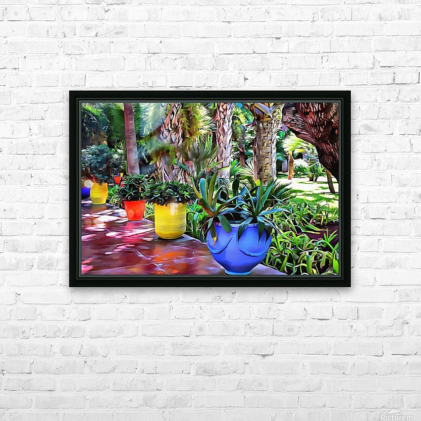 Colorful Plant Pots Marrakech 9 HD Sublimation Metal print with Decorating Float Frame (BOX)