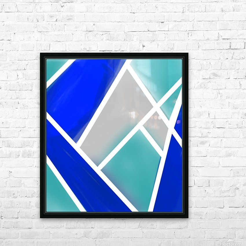 Quilted Geometric  HD Sublimation Metal print with Decorating Float Frame (BOX)