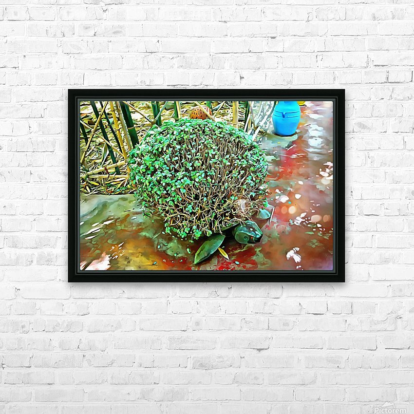 Turtle Pot At Majorelle Gardens HD Sublimation Metal print with Decorating Float Frame (BOX)