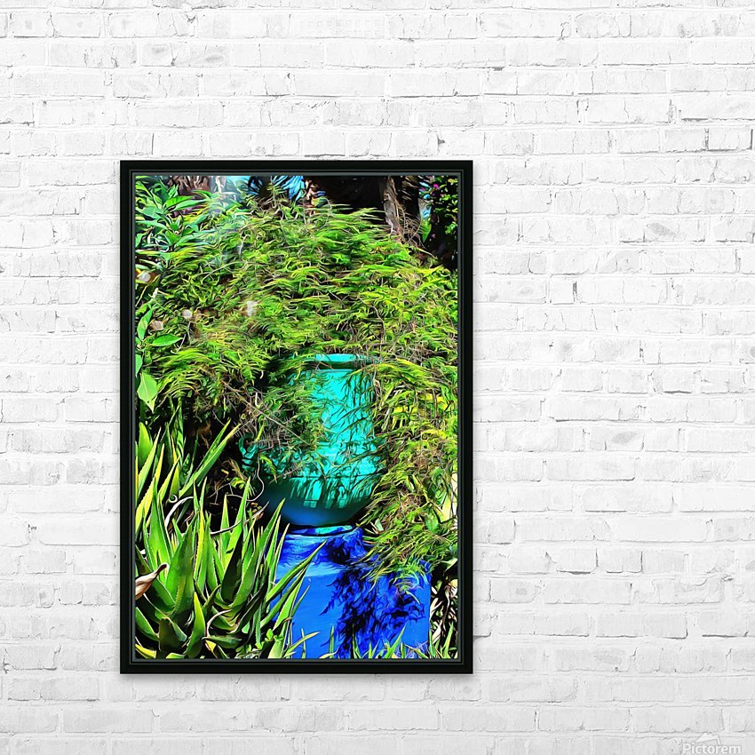 Colorful Plant Pots Marrakech 4 HD Sublimation Metal print with Decorating Float Frame (BOX)
