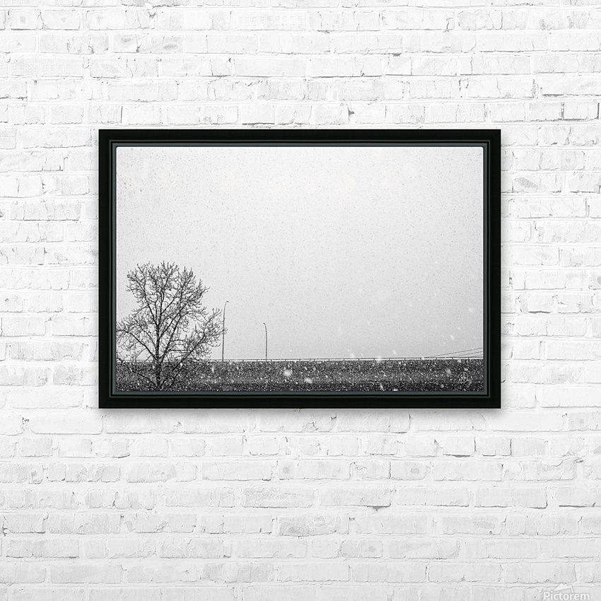 Freeway Snow... HD Sublimation Metal print with Decorating Float Frame (BOX)