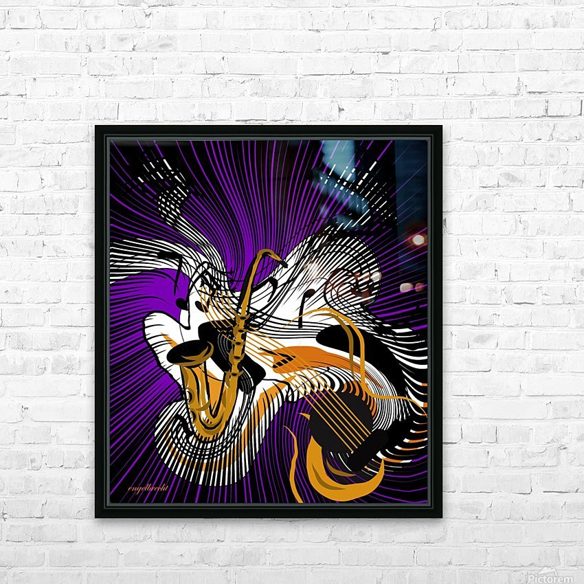 jazz vibes HD Sublimation Metal print with Decorating Float Frame (BOX)