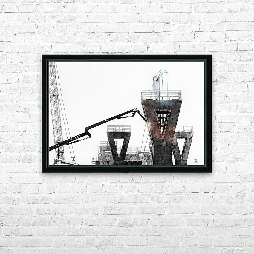 Magpie Heavy... HD Sublimation Metal print with Decorating Float Frame (BOX)