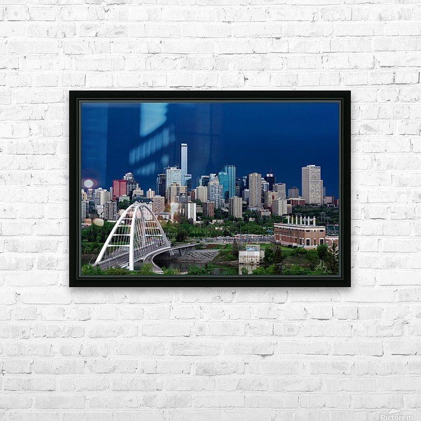 Edmonton Skyline & Thunderstorm... HD Sublimation Metal print with Decorating Float Frame (BOX)