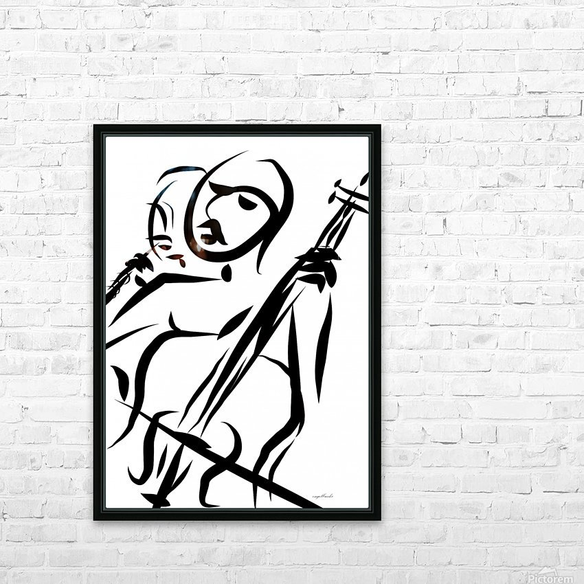 cello and flute HD Sublimation Metal print with Decorating Float Frame (BOX)