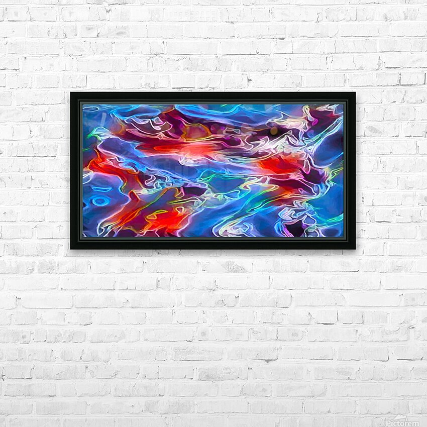 Blue Flames - multicolor abstract swirls HD Sublimation Metal print with Decorating Float Frame (BOX)