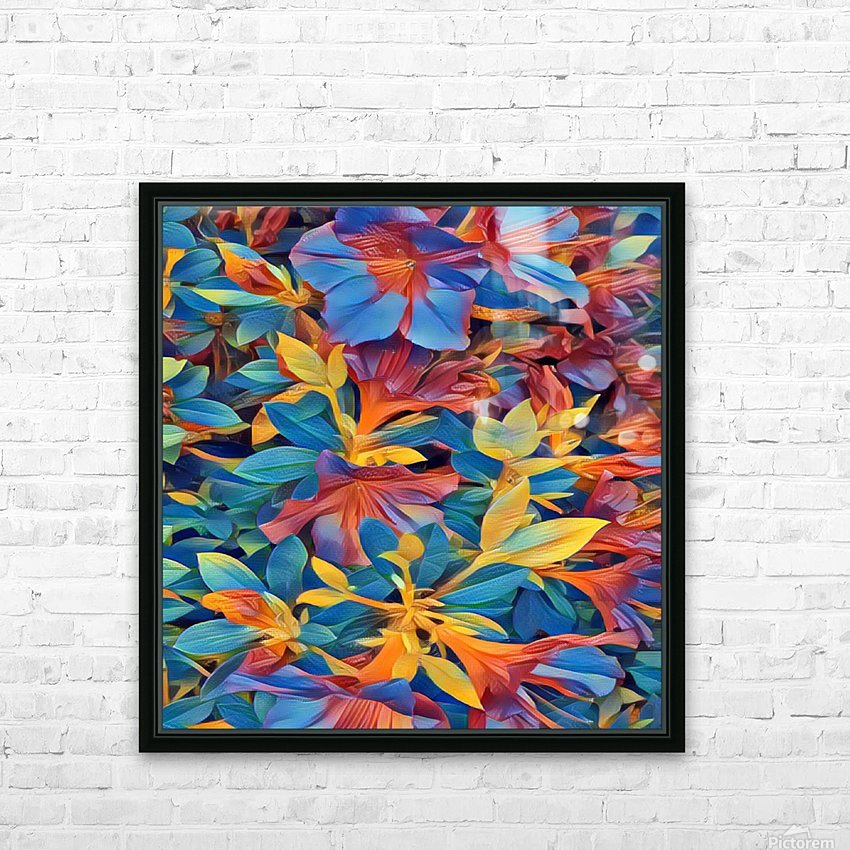Abstract Garden HD Sublimation Metal print with Decorating Float Frame (BOX)