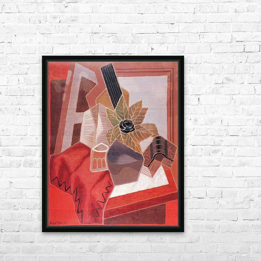 Flowers on the table by Juan Gris HD Sublimation Metal print with Decorating Float Frame (BOX)