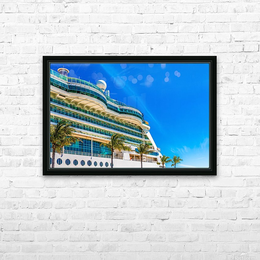 Cruise Ship in Paradise HD Sublimation Metal print with Decorating Float Frame (BOX)