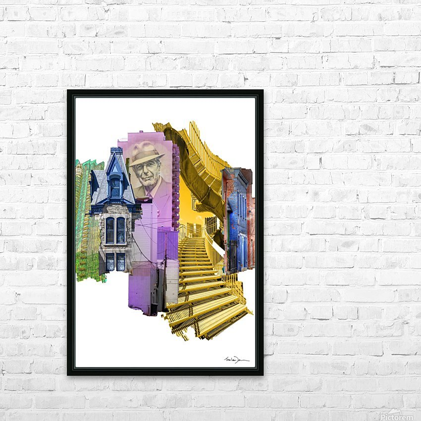 Montréal 2 HD Sublimation Metal print with Decorating Float Frame (BOX)