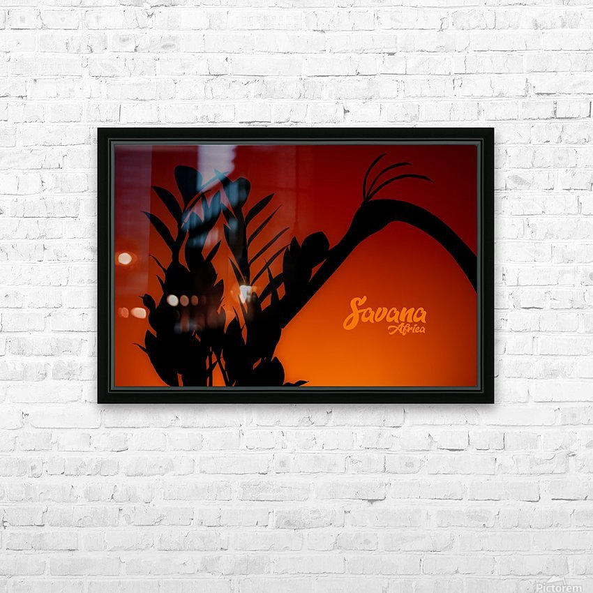 Savana Africa HD Sublimation Metal print with Decorating Float Frame (BOX)
