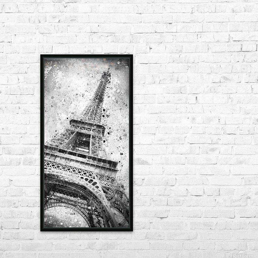Monochrome Art EIFFEL TOWER  HD Sublimation Metal print with Decorating Float Frame (BOX)