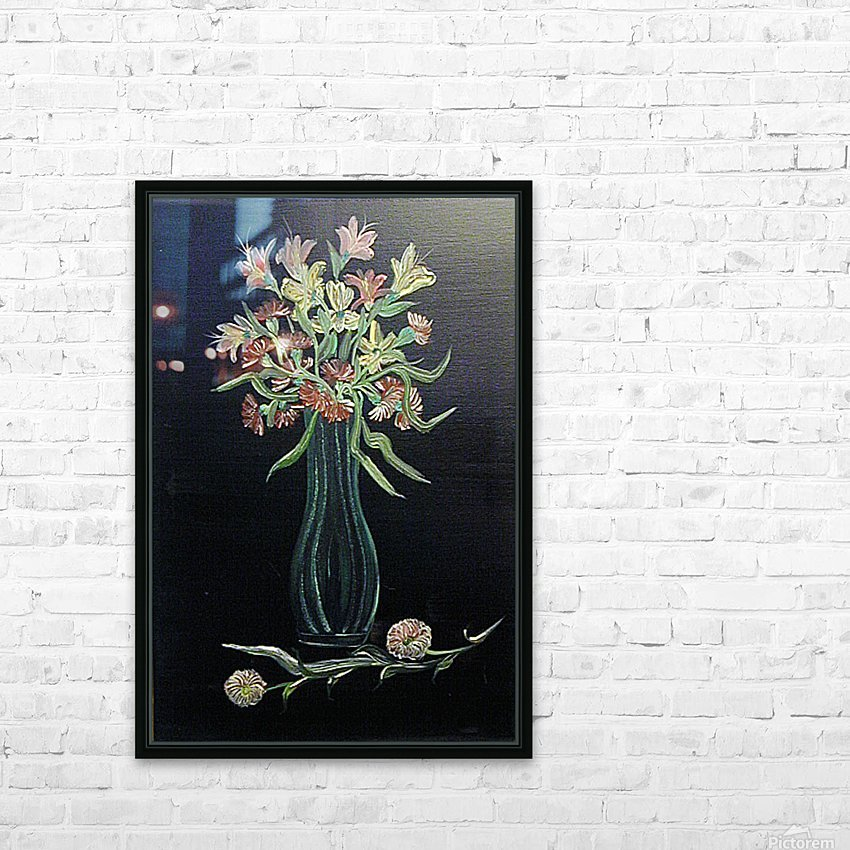 Flower Study 4 HD Sublimation Metal print with Decorating Float Frame (BOX)