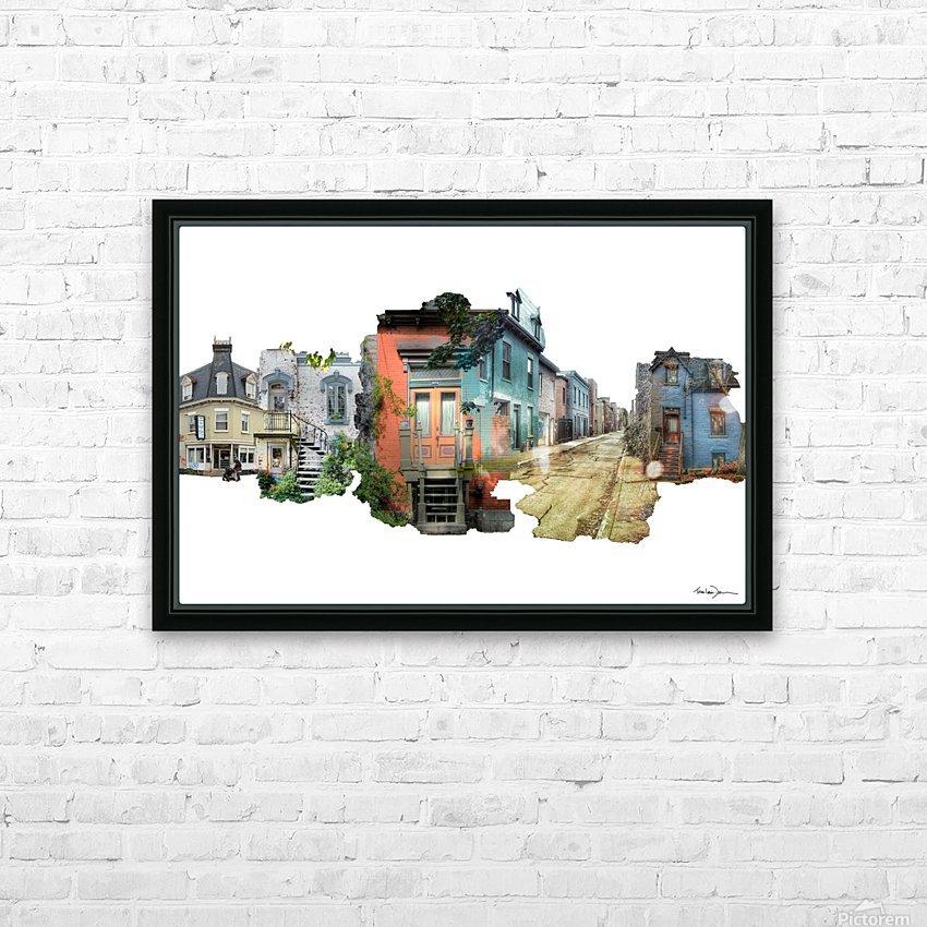 Maisons de Montréal HD Sublimation Metal print with Decorating Float Frame (BOX)