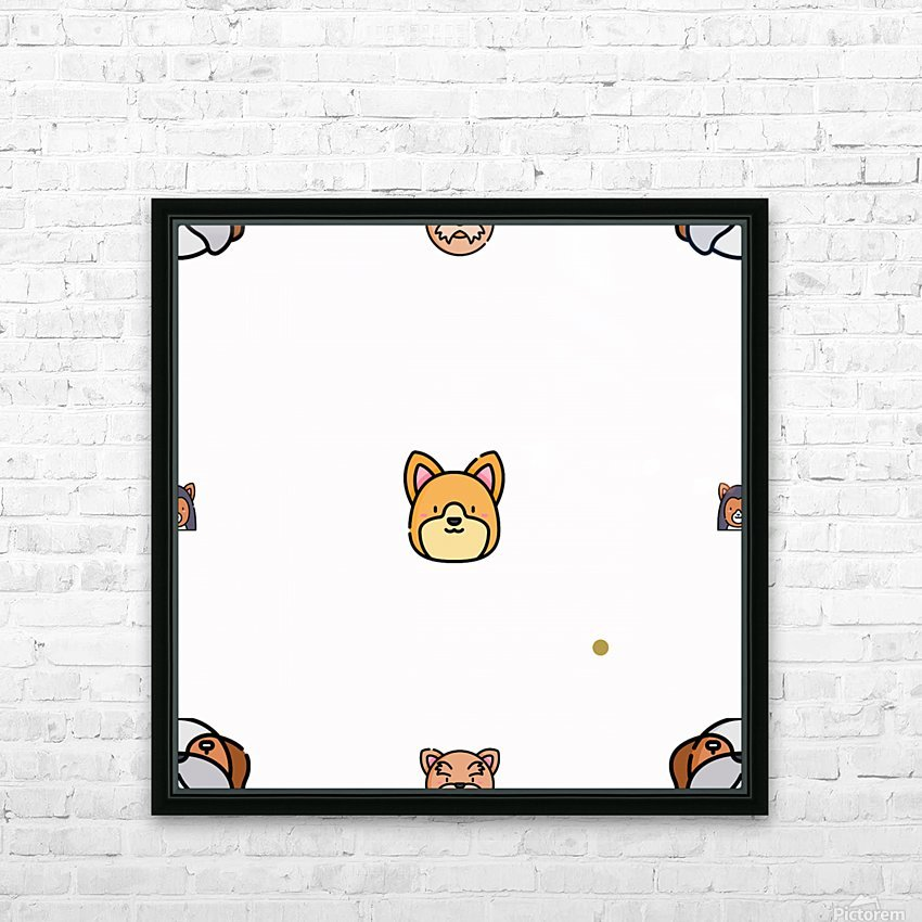 Dog (57) HD Sublimation Metal print with Decorating Float Frame (BOX)