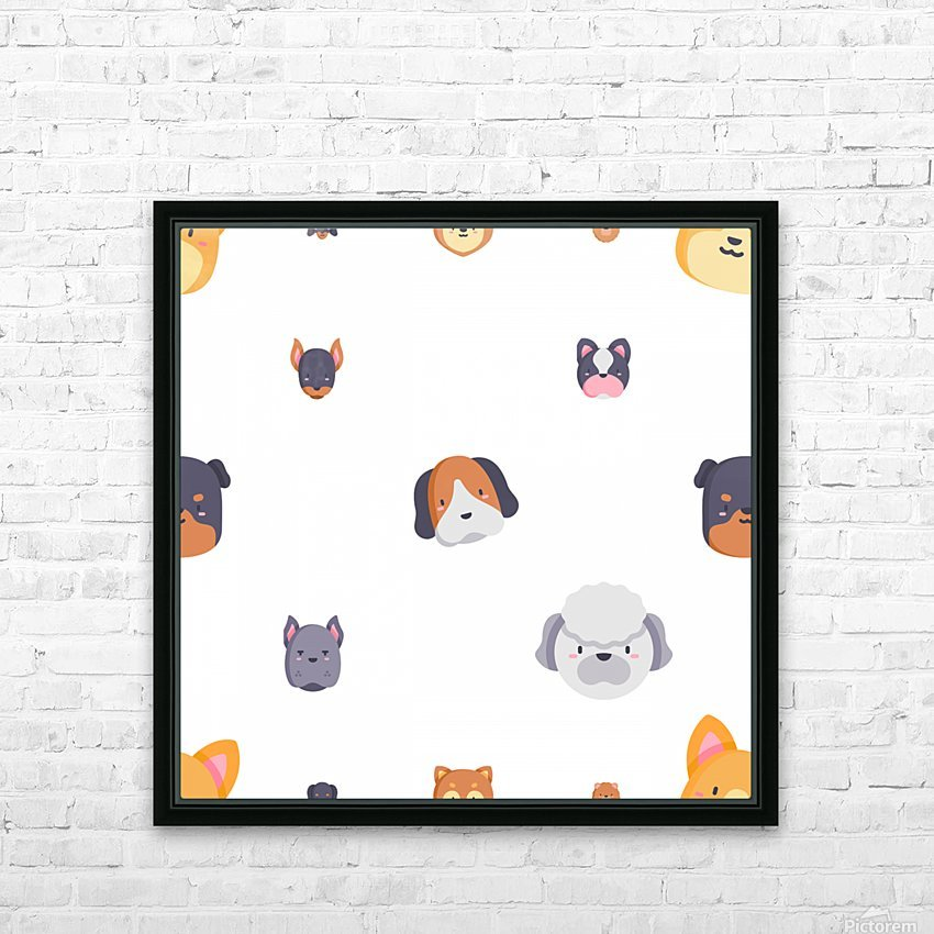 Dog (55) HD Sublimation Metal print with Decorating Float Frame (BOX)