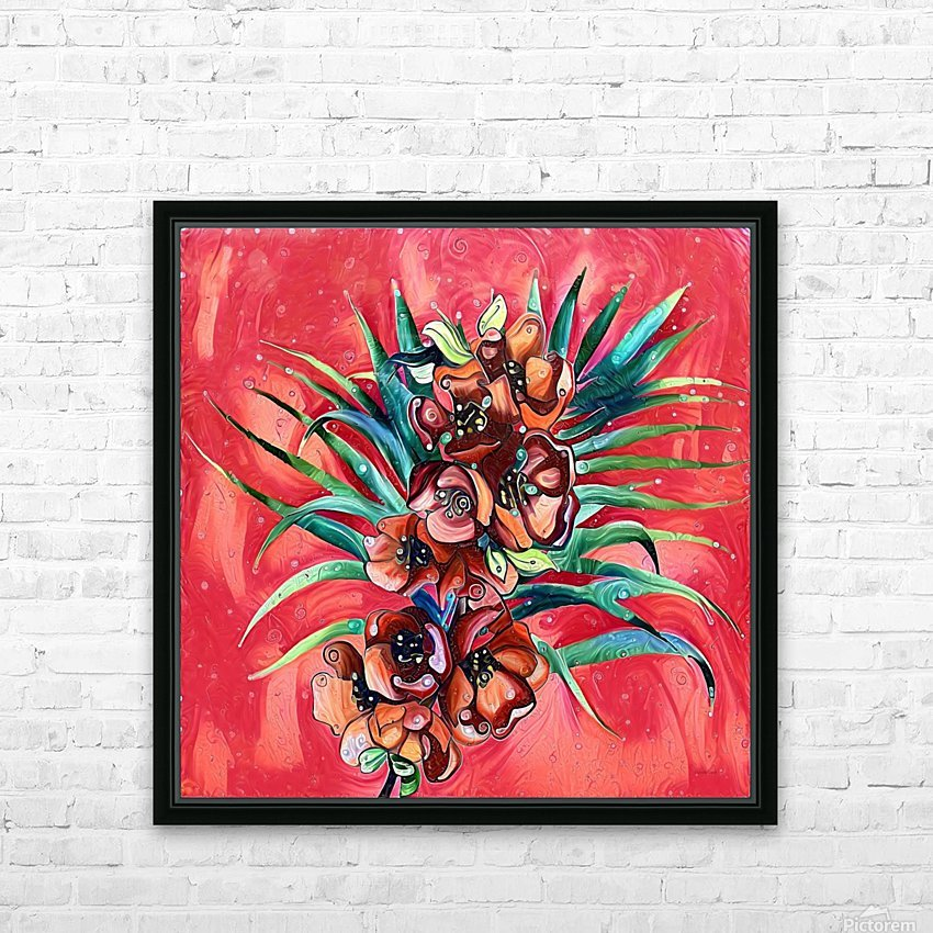 Vibrant Colors Tropical Floral HD Sublimation Metal print with Decorating Float Frame (BOX)