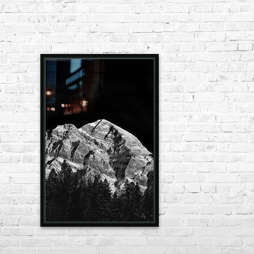 Mountain At Dawn... HD Sublimation Metal print with Decorating Float Frame (BOX)