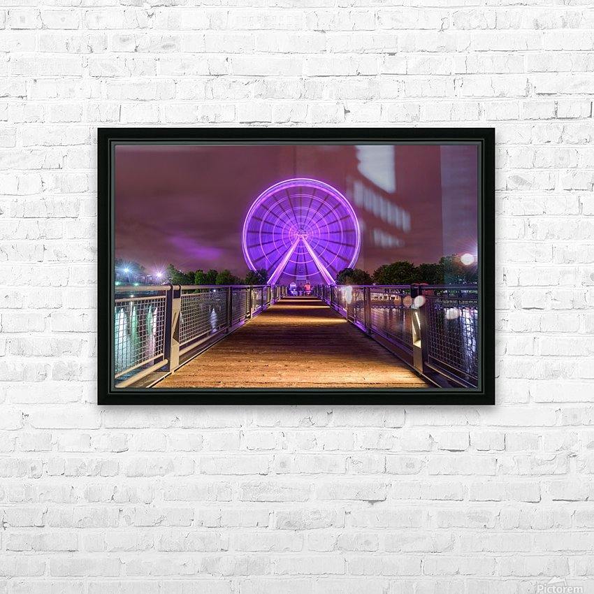 La Grande Roue de Montreal HD Sublimation Metal print with Decorating Float Frame (BOX)