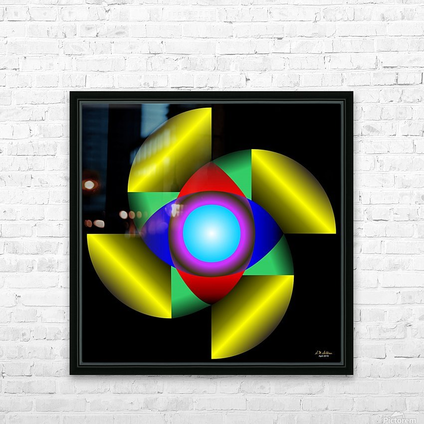 1-The Golden Ratio HD Sublimation Metal print with Decorating Float Frame (BOX)