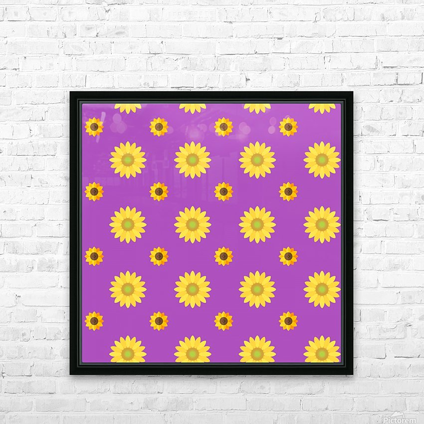 Sunflower (7) HD Sublimation Metal print with Decorating Float Frame (BOX)