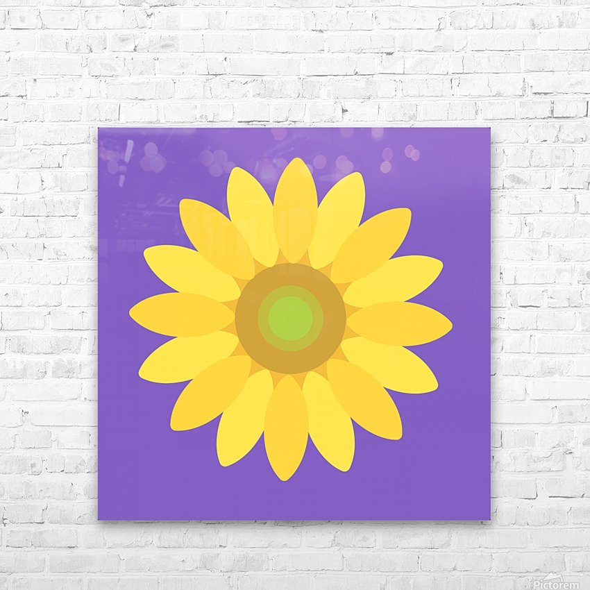 Sunflower (12) HD Sublimation Metal print with Decorating Float Frame (BOX)