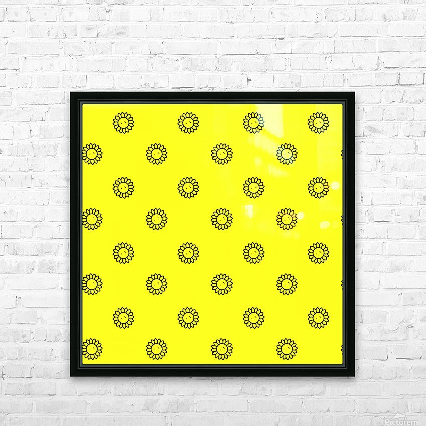 Sunflower (25) HD Sublimation Metal print with Decorating Float Frame (BOX)