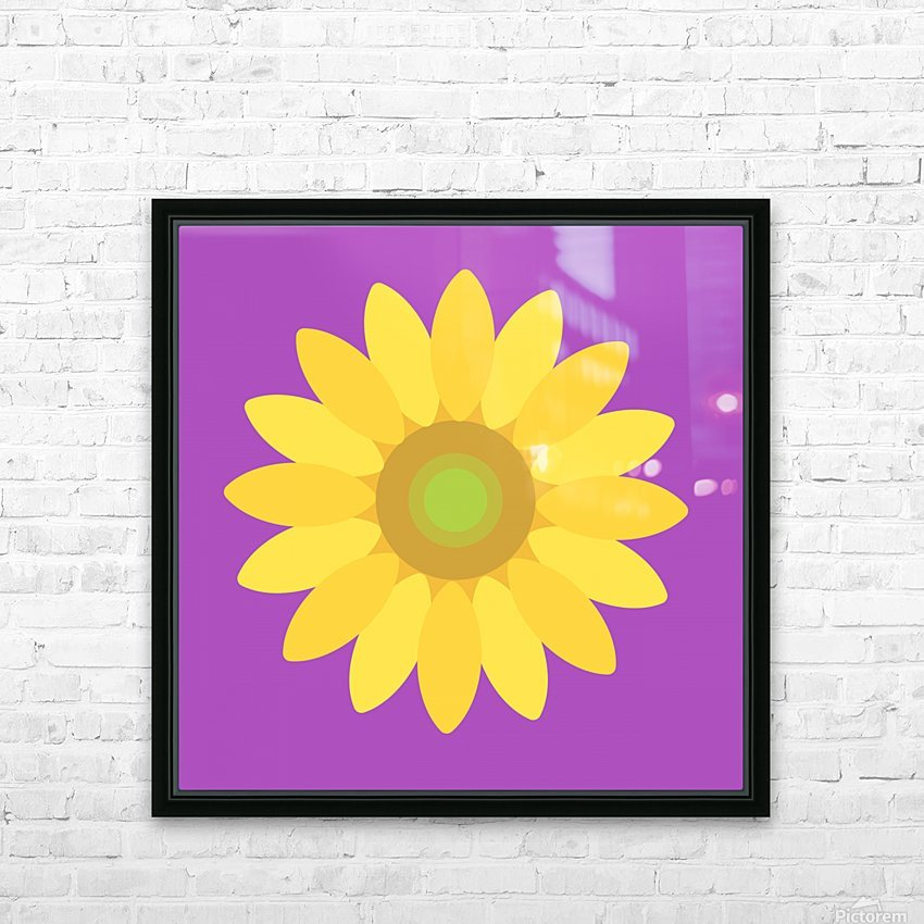Sunflower (11) HD Sublimation Metal print with Decorating Float Frame (BOX)