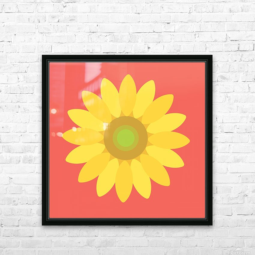 Sunflower (9) HD Sublimation Metal print with Decorating Float Frame (BOX)