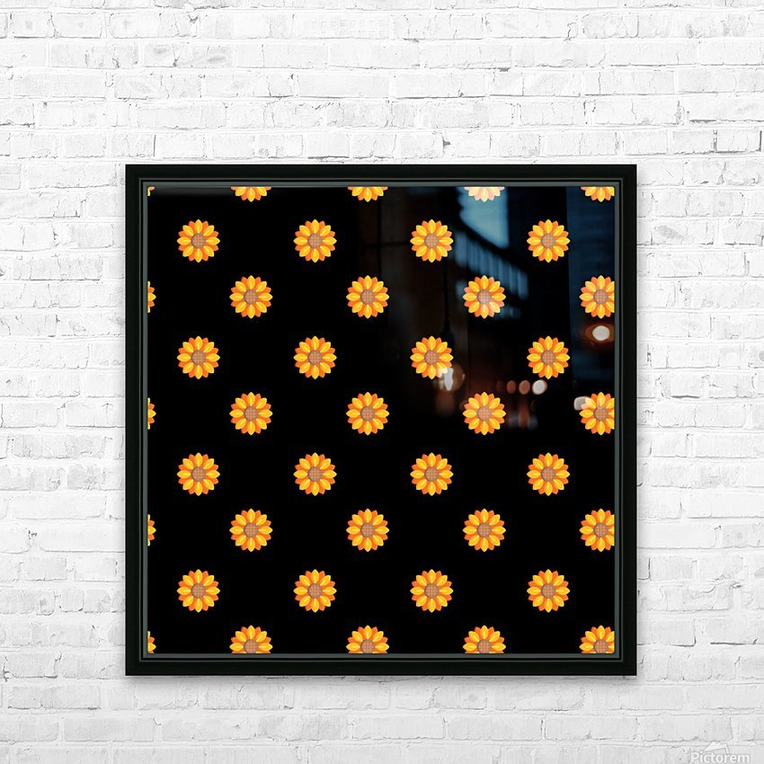 Sunflower (31) HD Sublimation Metal print with Decorating Float Frame (BOX)