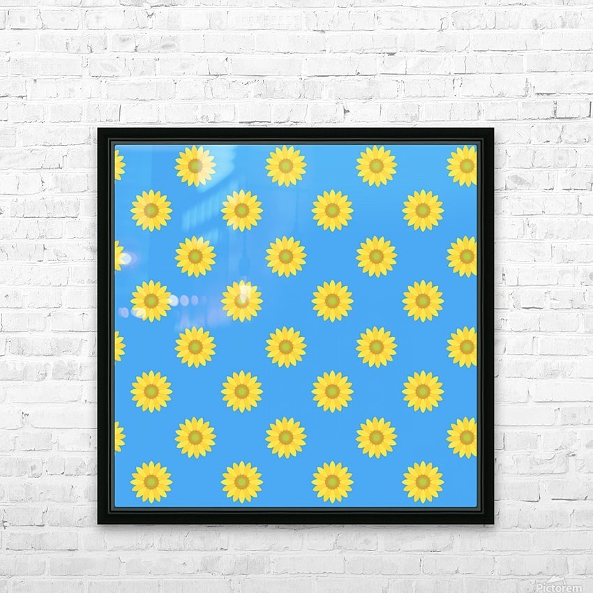 Sunflower (36) HD Sublimation Metal print with Decorating Float Frame (BOX)
